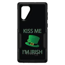 OtterBox Commuter for Galaxy Note 4 8 9 10 + Black Green Kiss Me I'm Irish