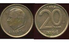 BELGIQUE  20 francs  1994  ( belgie)   ( bis )