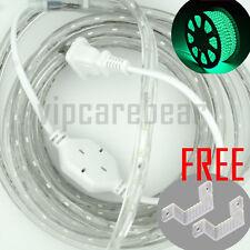 1M-20M 110V GREEN 3528SMD LED Waterproof Rope Light  60LED/M +AC Plug +FREEMount