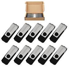LOT 10 20 50 100 USB 2.0 Flash Memory Sticks Pen Drives 8GB Storage Device Black