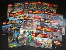 Lego Super Heroes 1x conjunto de instrucciones-múltiples variaciones!