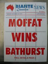 BIANTE BROCHURE FORD FALCON XY GTHO MOFFAT 65E BATHURST WINNER SUIT 1/18 CARS