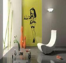 Cameriera Sexy Seducente bedroombar AUTO Diner Vinyl Wall Art Decalcomania Sticker