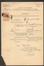 LANGEAC (43) DOMAINE & TIMBRE / VENTE de MEUBLES en1896