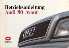 AUDI 80 Avant B4 Betriebsanleitung 1993 Bedienungsanleitung Handbuch BA