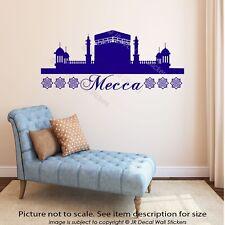 Mecca Islamic Wall Art Stickers Mosque Shape Arabic Patterns Khana Kaaba Decal