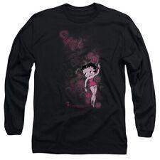 Betty Boop Cartoon Cutie Adult Long Sleeve T-Shirt Tee