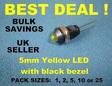 Plastique Noir Panneau Cadre (Chrome Edge) avec (amovible) 5 Mm DEL Jaune Lampe Neuf