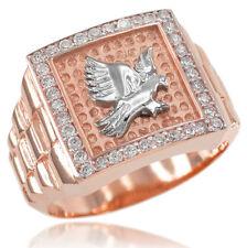 New Rose Gold Watchband Design Men's Eagle CZ Ring