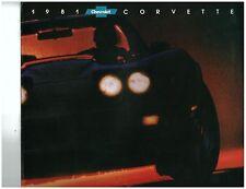 1981  Corvette Sales Brochure Original NICE!