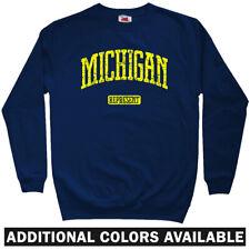 Michigan Represent Sweatshirt - State Spartans MSU Detroit Crewneck - Men S-3XL