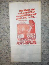 """Mark Of The Devil 1969 ORIG """"VOMIT BAG"""" Movie Theatre Promo HORROR GORE   EX!"""