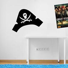 PIRATA CAPPELLO CAP Pirate Treasure Adesivi Bambini Muro Finestra Kids PIRATI A51