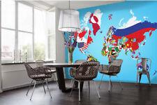 3D Fumetto Mappa ·Parete Murale Foto Carta da parati immagine sfondo muro stampa