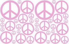 38 LAVENDER PEACE SIGN VINYL KIDS BEDROOM DECAL STICKER