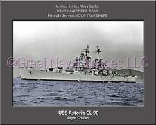USS Astoria CL 90 Personalized Canvas Ship Photo Print Navy Veteran Gift