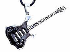 N º 1 Guitarra klampfe ACERO inox. metal rock band musicales Colgante & ROLL