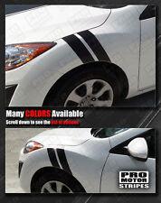 Mazda 3 2009-2013 Racing Fender Hash Side Stripes Decals (Choose Color)
