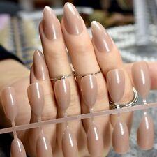 Press On Nails Fake Nail Pointed Ladies Manicure Stiletto Full Wrap 24pcs DIY