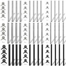Set 4 gambe placcate cromo/nickel per tavolo regolabili di altezze diverse
