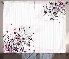 Modern Arrangement Curtains 2 Panel Set Decoration 5 Sizes Window Drapes