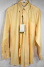 Cutter & Buck Long Sleeve Button Down Yellow Dress Shirt Sizes S, M, L & XL