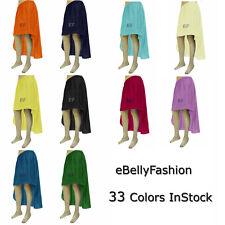 Women Lady Cotton Hot Sexy Asym Skirts Waist Maxi High Low Hem | 33Colors