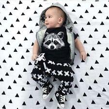 2pcs Newborn Toddler Infant Baby Boy Clothes T-shirt Tops+Pants Outfit Set