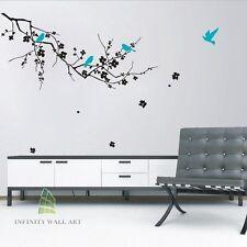 ADESIVI Da Parete Arte Decalcomanie Murales CASA VINILE ALBERO FIORE bambini farfalla decor-p156