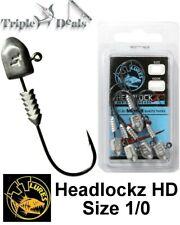 6 Pack of Size 1/0 TT Lures Headlockz HD Series Jigheads - Choose the Weight