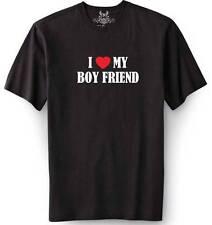 "New BOY MEN'S PRINTED ""I LOVE MY BOY FRIEND"" FUNNY T-shirt ALL SIZE"