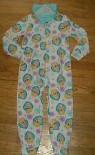 Disney Frozen Elsa Hooded No Feet Blanket Sleeper Pajamas Sz 6/6X - 7/8 - 10/12