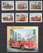 Benin Sc 1062-1068 MNH. 1998 Fire Engines + S/S, VF