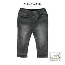 Jeans Slim in Caldo Cotone Nero Bambina Sarabanda H234
