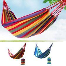 Hamac de jardin double grand lit suspendu camping balancelle transat terrasse DS