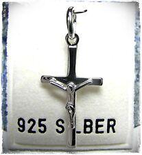 NEU 925 Silber RHODINIERT Korpus ANHÄNGER JESUS AM KREUZ Kettenanhänger