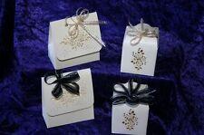 TINY GIFT BOX small birthday anniversary gift VICTORIANA cream boxes present