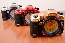 Creative Camera Style Classic Quartz Alarm Clock Novelty Xmas Gift Alarm Clock