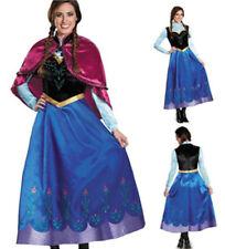 Halloween Ladies Deluxe Frozen Anna Princess Book Week Audlt Fancy Dress Costume