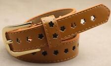 New Ladies Fashion Buckle Flower Waist  Belt Women CasualSimple Leather Belt