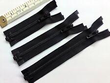 Zip, zipper, bout ouvert, séparer, léger, nylon ykk, noir, 3,4,5 pouces