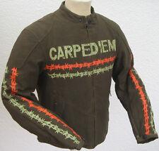 "Street Wear Motorradjacke schwarz  und grün Jacke  Textiljacke ""Carpe Diem"""