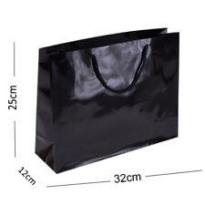 NOIR BRILLANT Paysage boutique magasin SAC CADEAU ~ résistant qualité gloss