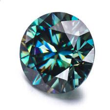 Deep Blue Loose moissanite Stone Round Brilliant Cut Excellent Grade VVS, 4 Ring