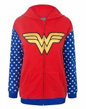 Wonder Woman Logo Women's Zip-Up Hoodie