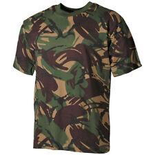 MFH Hombre T-Shirt Camiseta Calidad Algodón Ejército Militar Paintball DPM Camo