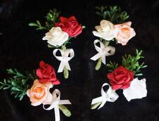 Anstecker Hochzeit Blumenanstecker Gästeanstecker Bräutigam lachs rot creme weiß