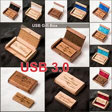 16GB-128GB USB2.0 USB 3.0+Box Personalised Engraved Wedding Photography Memory