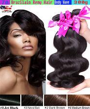 3 Bundles Brazilian Virgin Human Hair Body Wave Weave Bundle 12 Month Guarantee