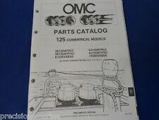 1989, 125 Commercial Models OMC Evinrude Johnson Parts Catalog